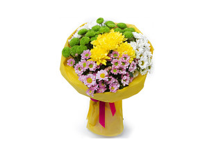 buket-cvetov-xrizantema-kustovaya